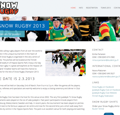 Snow Rugby